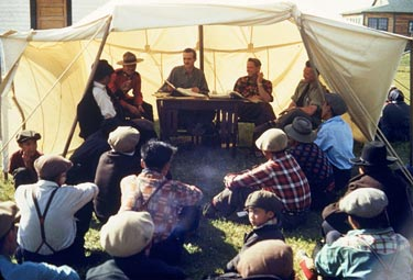 Paying treaty. 1954. Credit: Terrance Hunt / NWT Archives, N-1979-062-0242 (1620072)