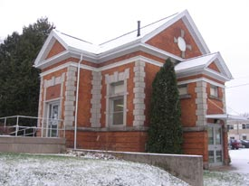 Former Sault Ste. Marie Registry Office, constructed 1907-8. Now used as a law library.